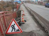 В Пензе обрушилась часть моста на улице Токарной