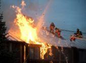В Пензе из-за удара молнии загорелся дом