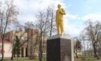Памятник В.И.Ленину в одном из скверов Пензы стал золотого цвета